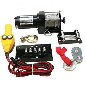 12 volt winch motor for atv includes weather resistant toggle switch 3000lb 2693 0 - Denparts