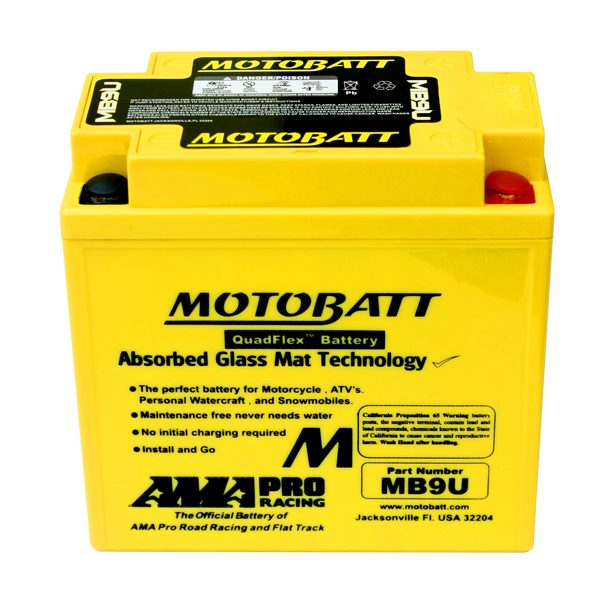 Motobatt Battery Kawasaki 125 250 Eliminator Scorpion Ninja H1
