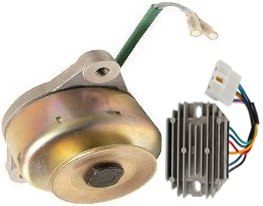 new alternator and regulator kit fits kubota g5200h d600 14hp dsl 1984 1990 74437 0 - Denparts